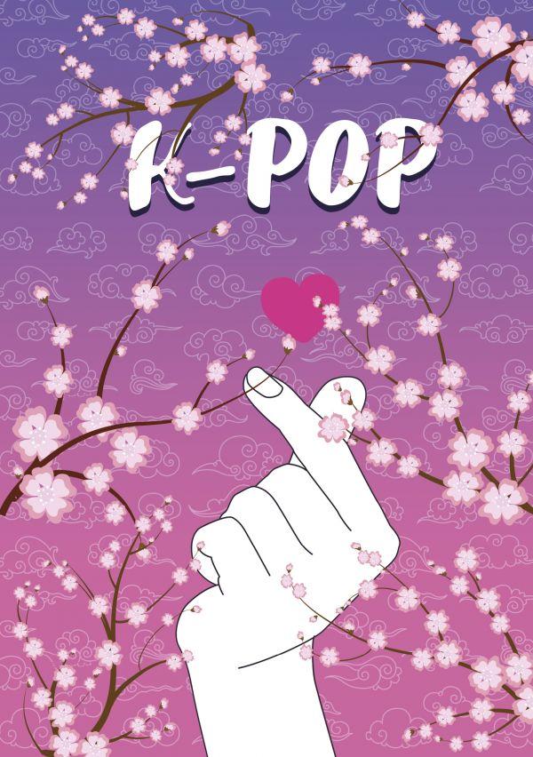 K-POP. Tetrad' (B5, 40 l., UF-lak, sakura)